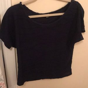 Navy pattered top